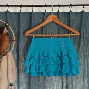 Dresses & Skirts - Blue Ruffle Skirt